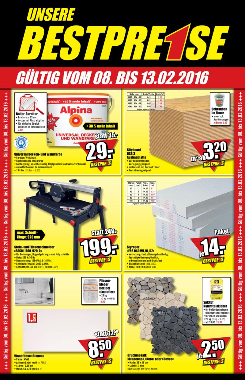 B1-Discount Prospekt vom 08.02.2016