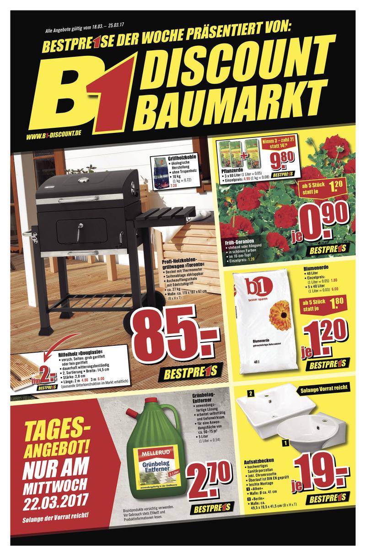 B1-Discount Prospekt vom 18.03.2017, Seite