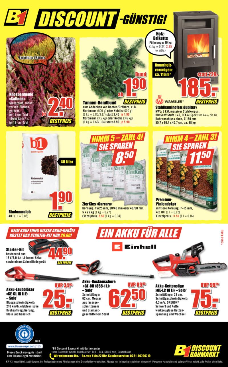 B1 Discount Prospekt vom 19.10.2019, Seite 7