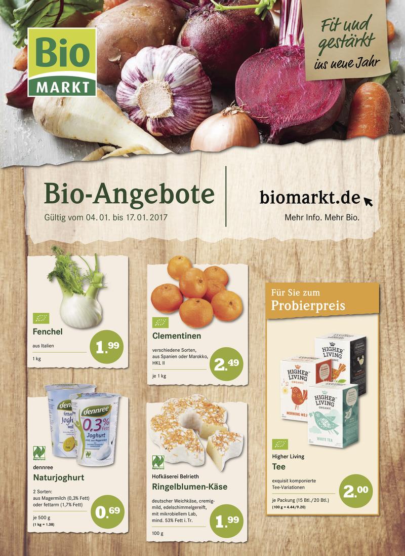 BioMarkt Prospekt vom 04.01.2017, Seite