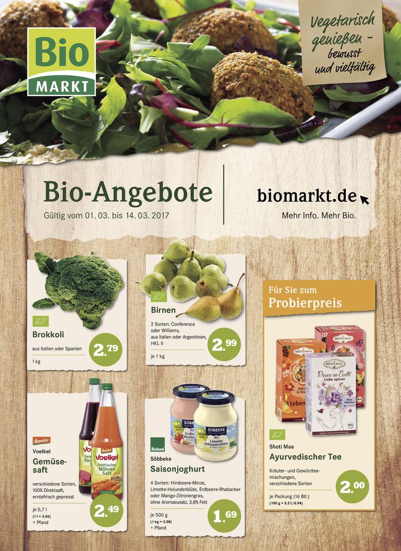 BioMarkt Prospekt vom 01.03.2017