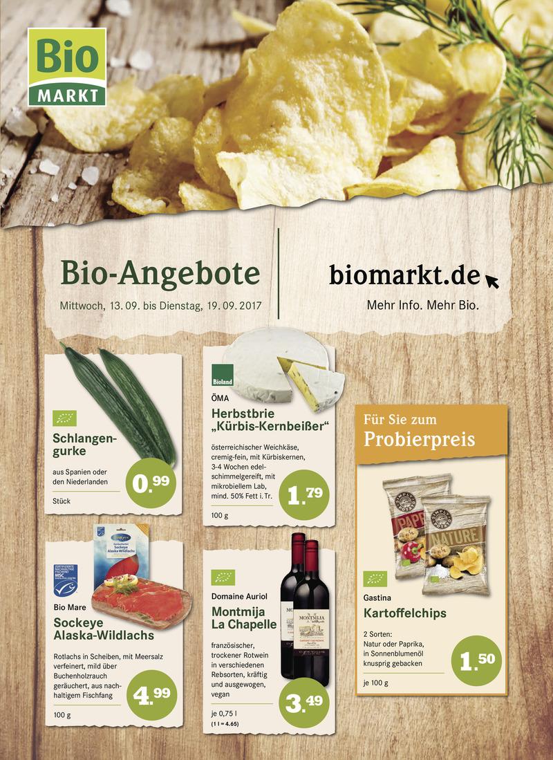 BioMarkt Prospekt vom 13.09.2017, Seite