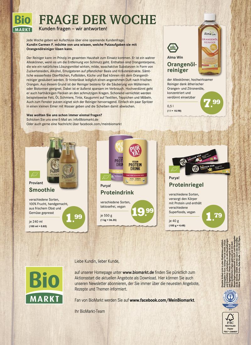 BioMarkt Prospekt vom 13.09.2017, Seite 7