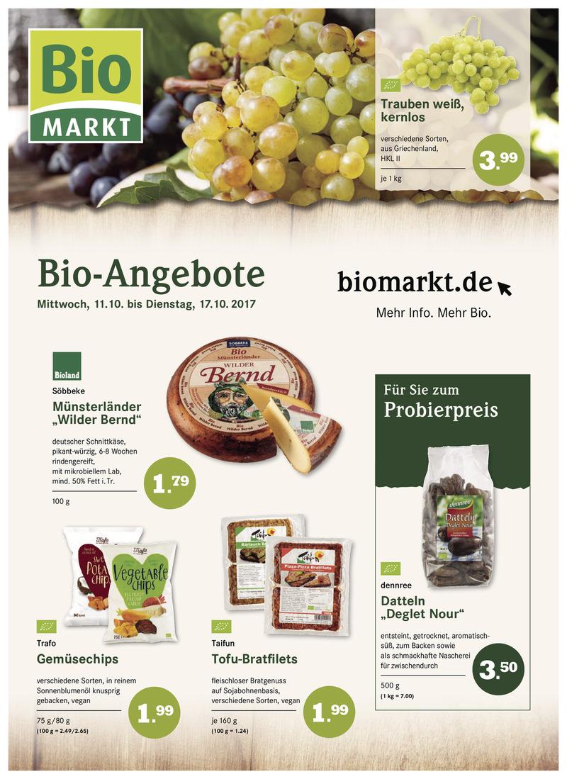 BioMarkt Prospekt vom 11.10.2017, Seite