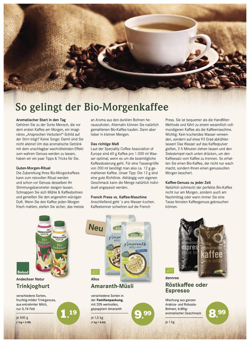 BioMarkt Prospekt vom 11.10.2017, Seite 1