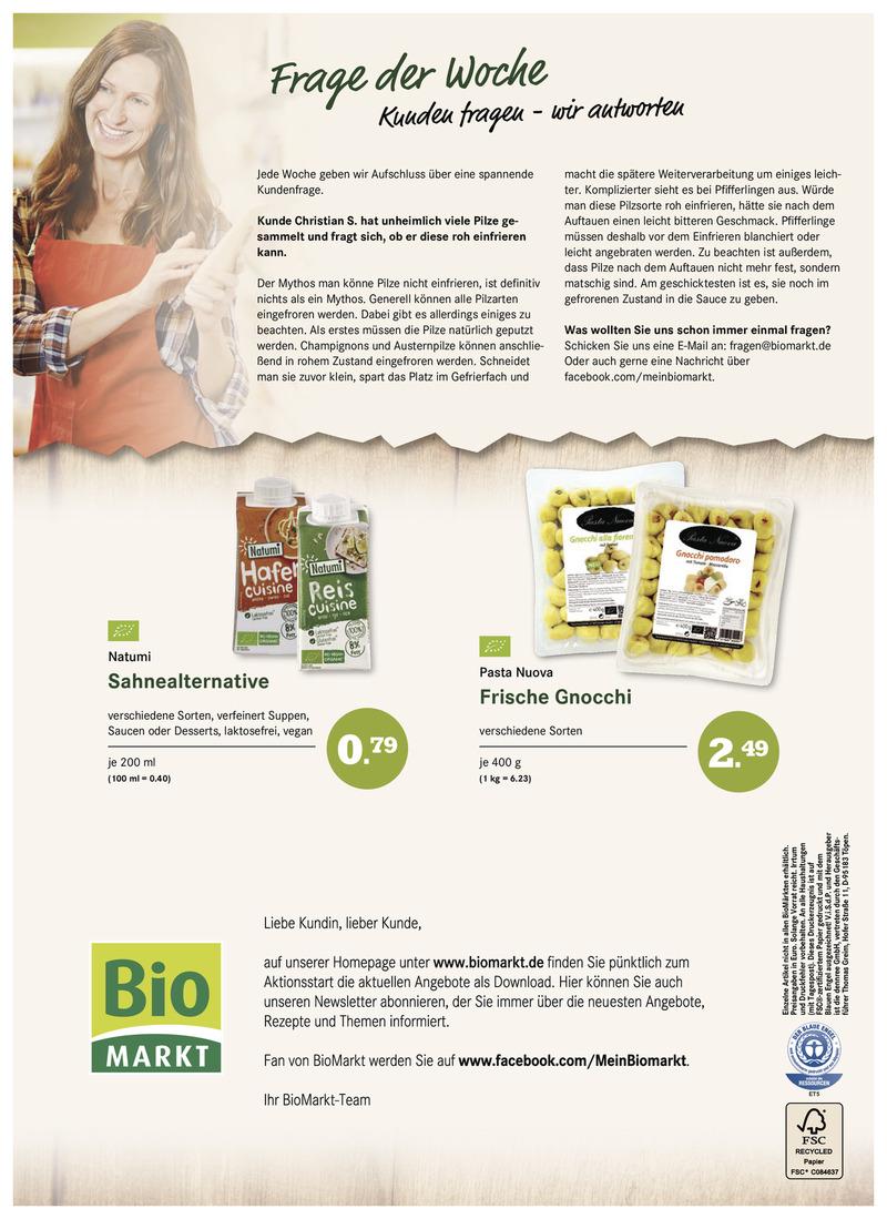 BioMarkt Prospekt vom 11.10.2017, Seite 7