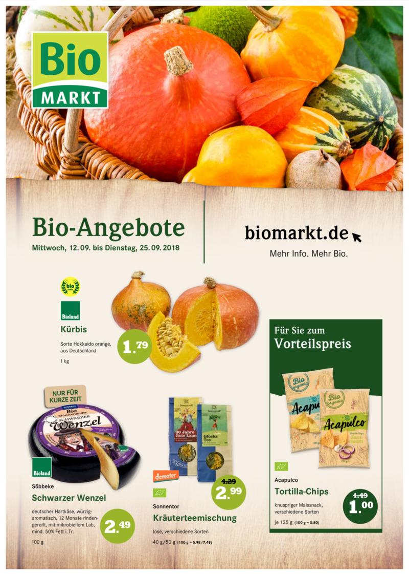 BioMarkt Prospekt vom 12.09.2018