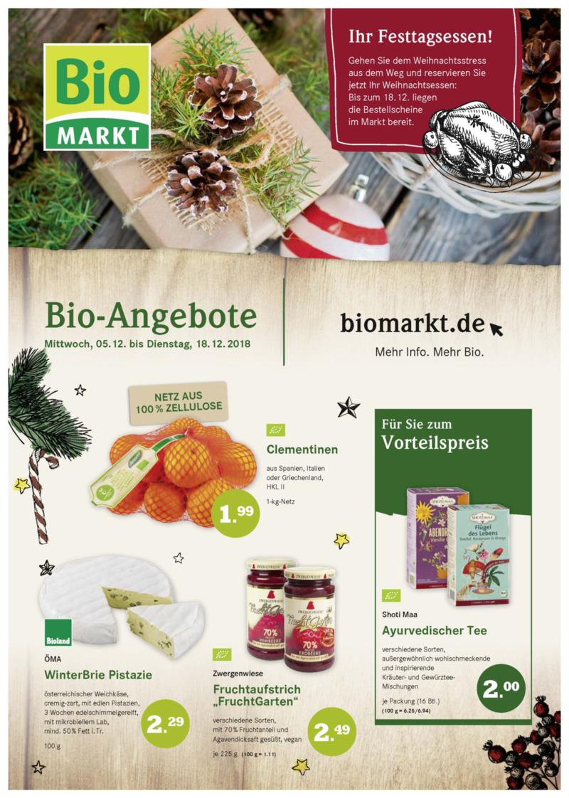 BioMarkt Prospekt vom 05.12.2018