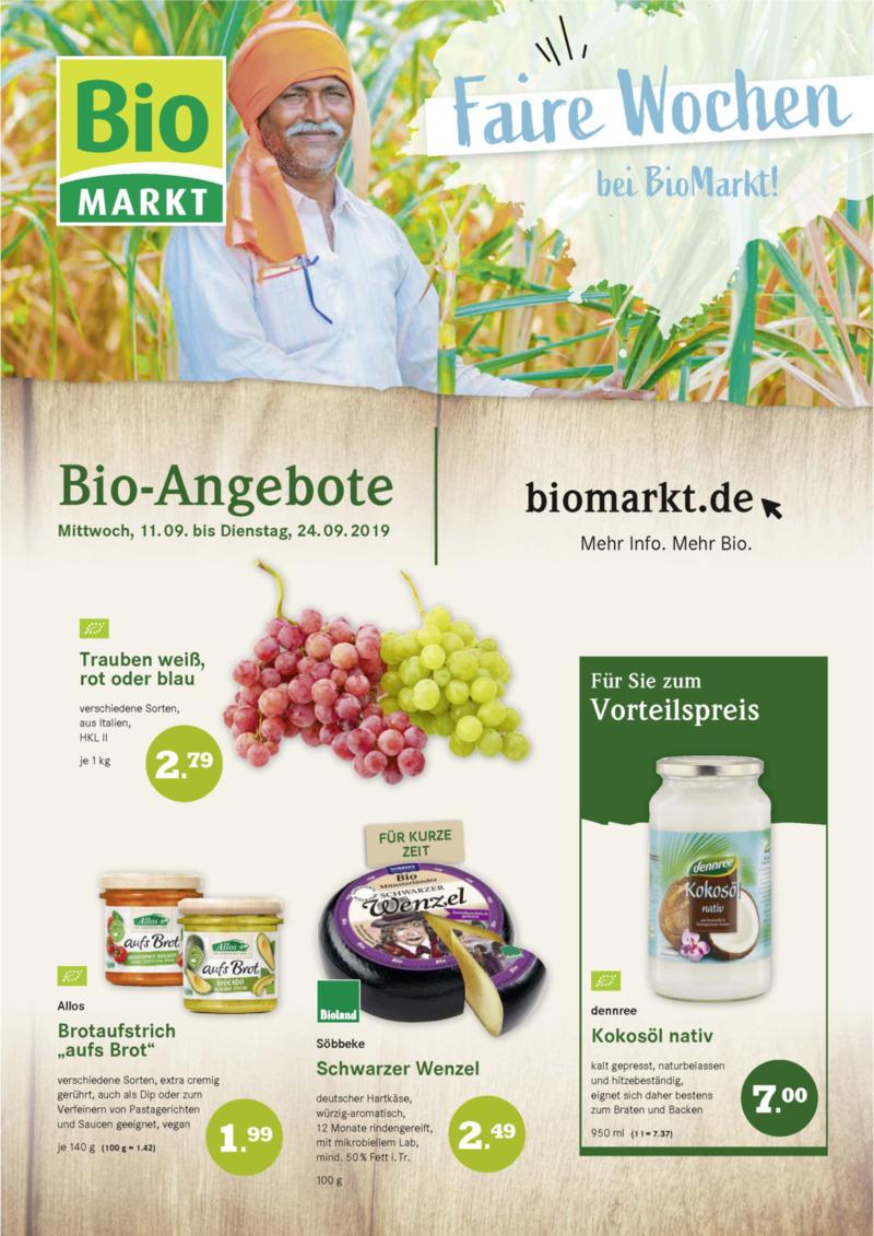 BioMarkt Prospekt vom 11.09.2019, Seite