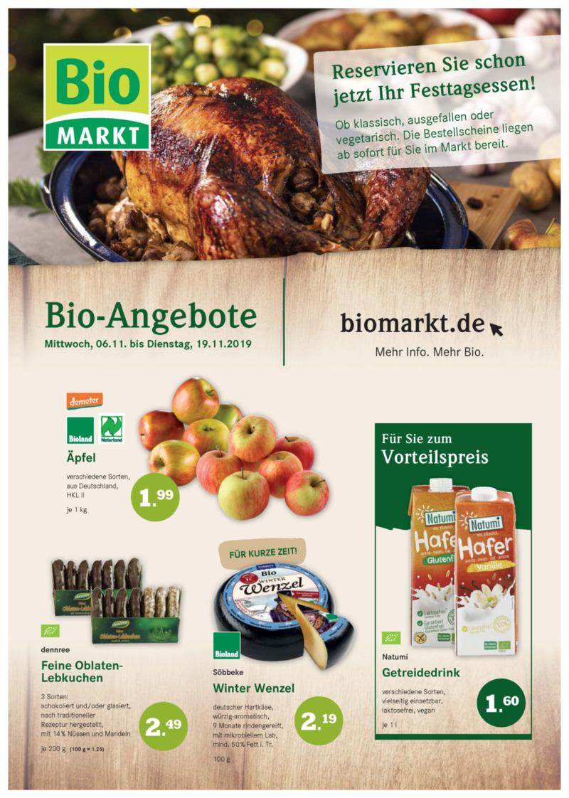 BioMarkt Prospekt vom 06.11.2019, Seite