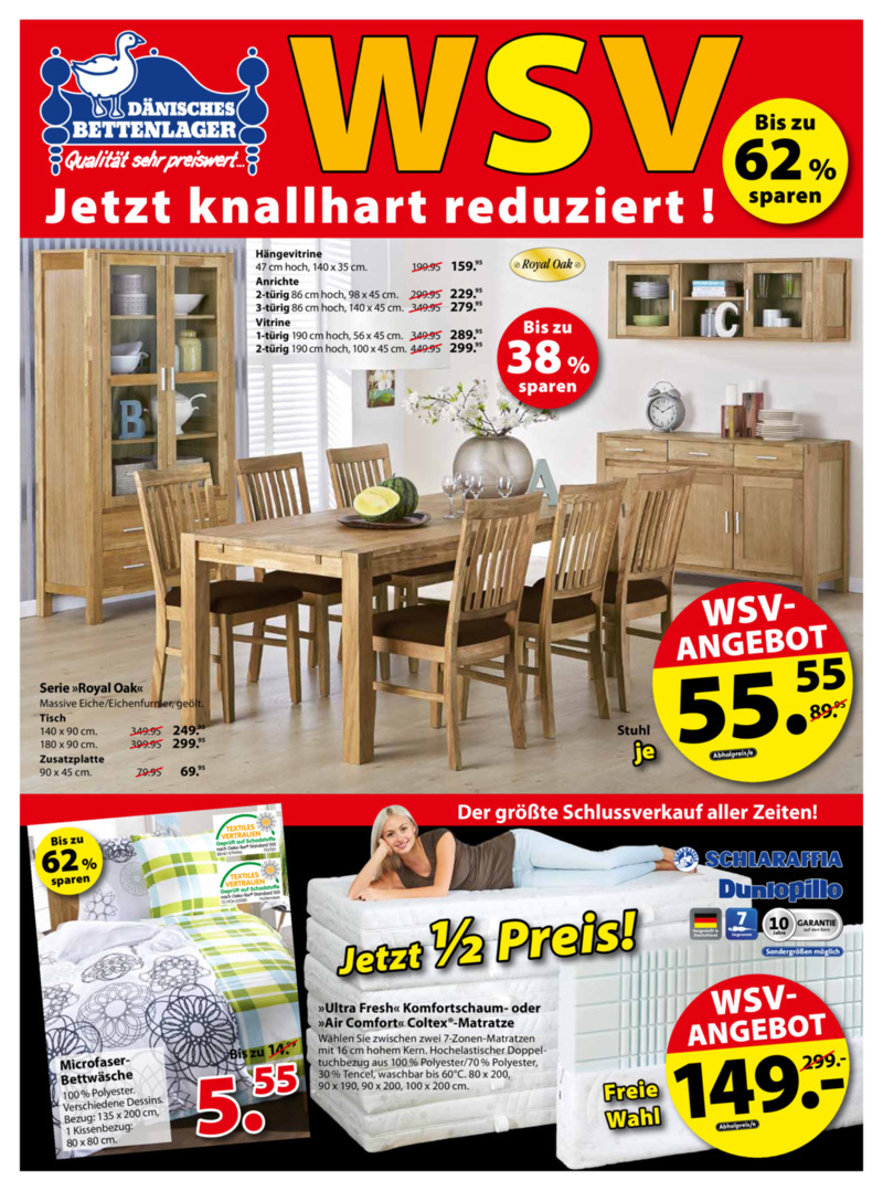 aktuelle d nisches bettenlager angebote. Black Bedroom Furniture Sets. Home Design Ideas