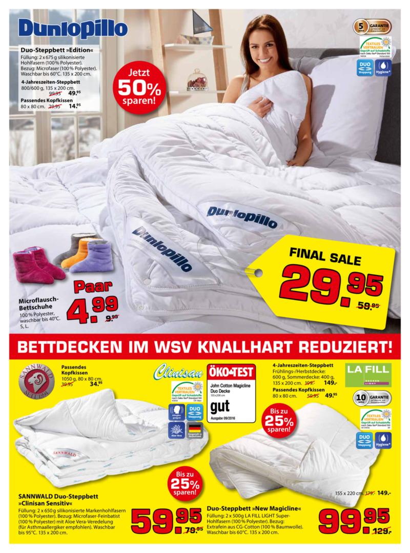 Dänisches Bettenlager Prospekt vom 09.01.2017, Seite 1