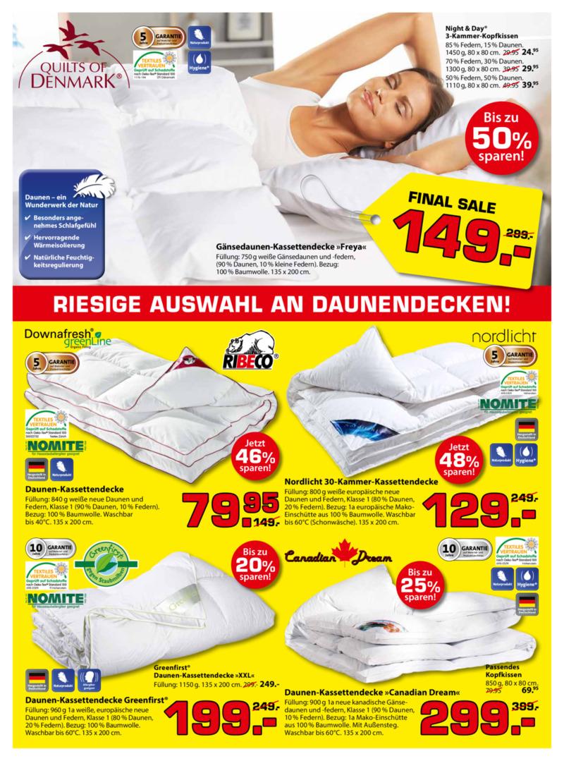 Dänisches Bettenlager Prospekt vom 09.01.2017, Seite 2