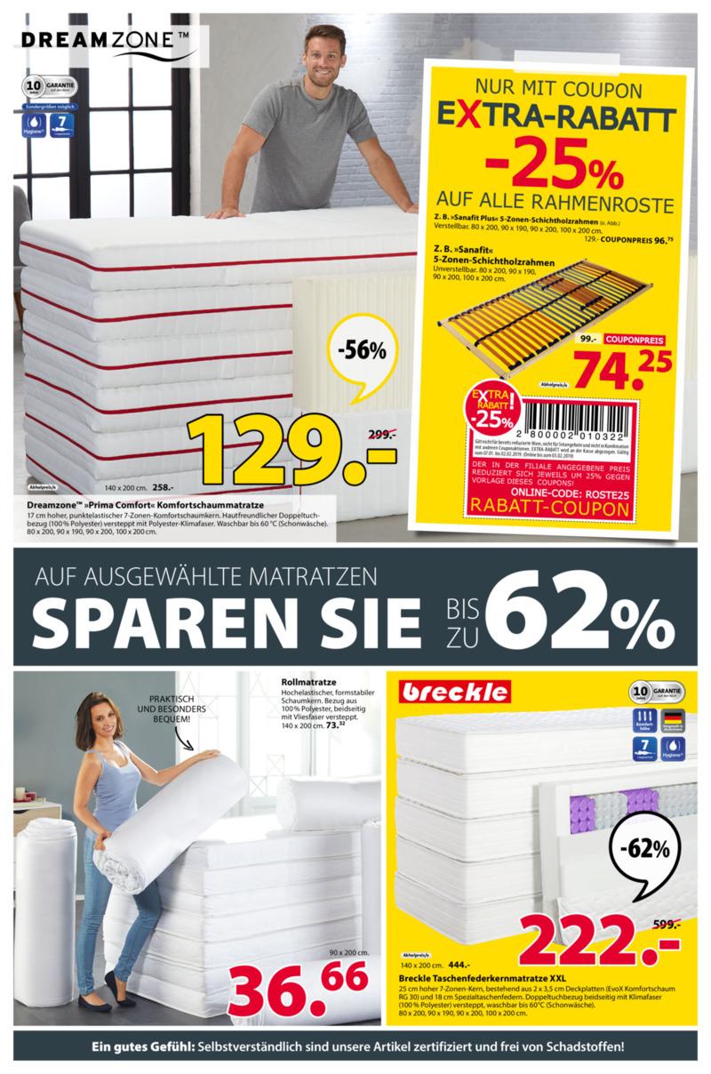 Dänisches Bettenlager Prospekt vom 07.01.2019, Seite 1