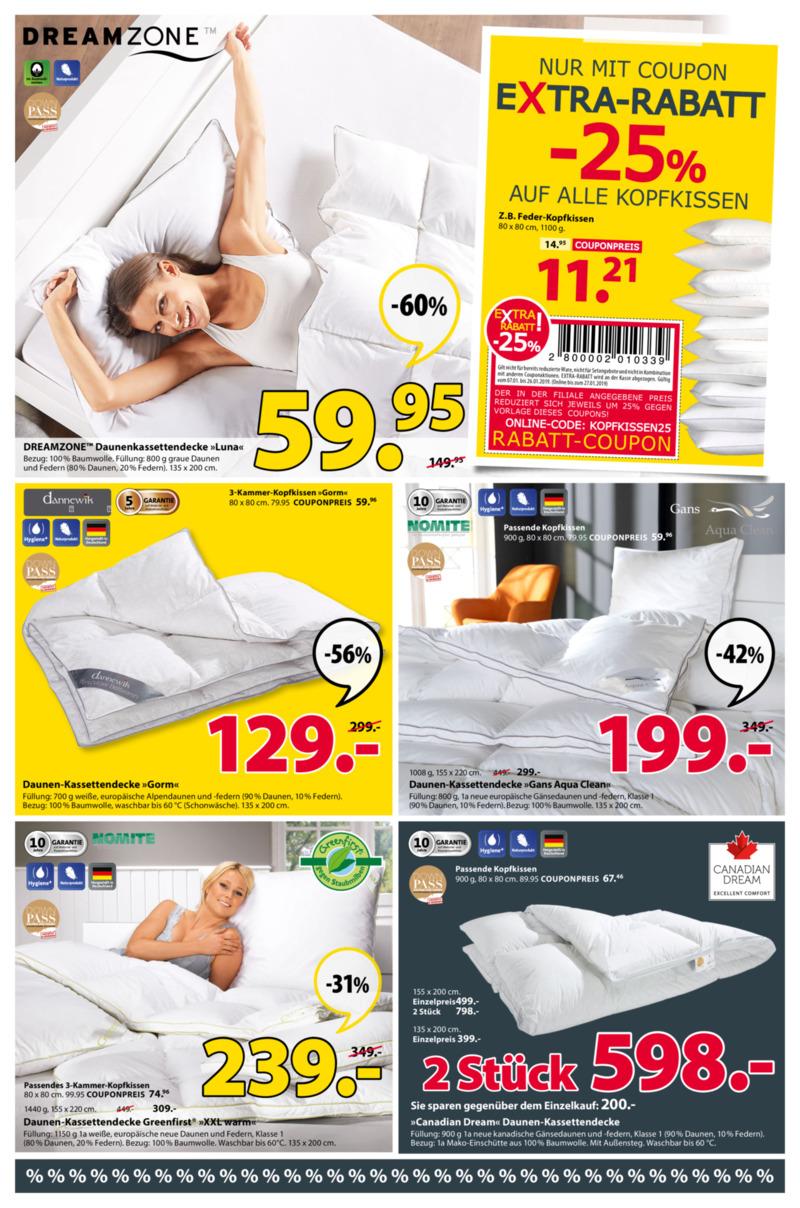 Dänisches Bettenlager Prospekt vom 07.01.2019, Seite 4