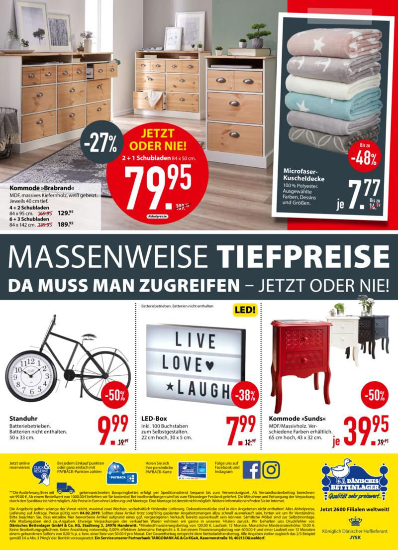 Dänisches Bettenlager Prospekt vom 04.02.2019, Seite 15