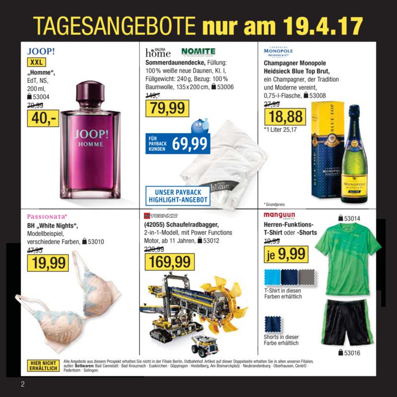 Galeria Kaufhof Prospekt vom 18.04.2017, Seite 1