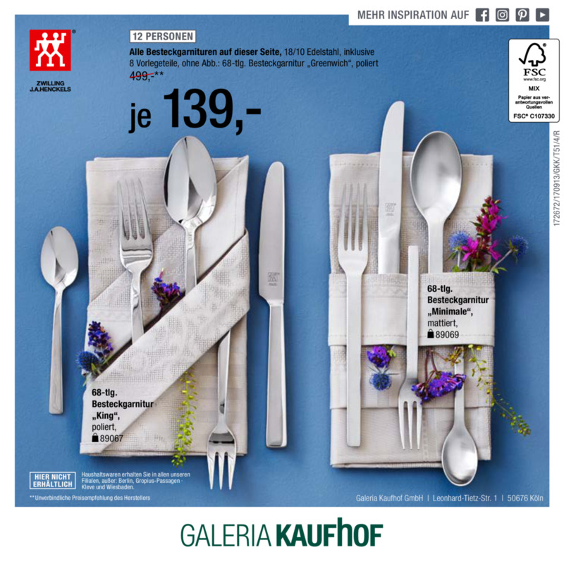 Galeria Kaufhof Prospekt vom 13.09.2017, Seite 11