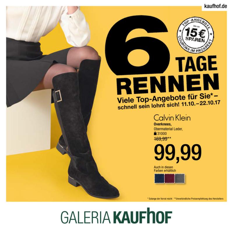 Galeria Kaufhof Prospekt vom 11.10.2017, Seite