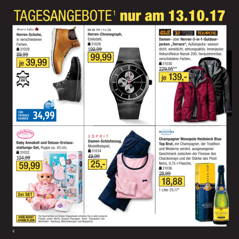 Galeria Kaufhof Prospekt vom 11.10.2017, Seite 3