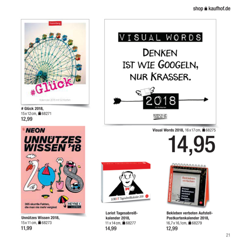 Galeria Kaufhof Prospekt vom 09.11.2017, Seite 20