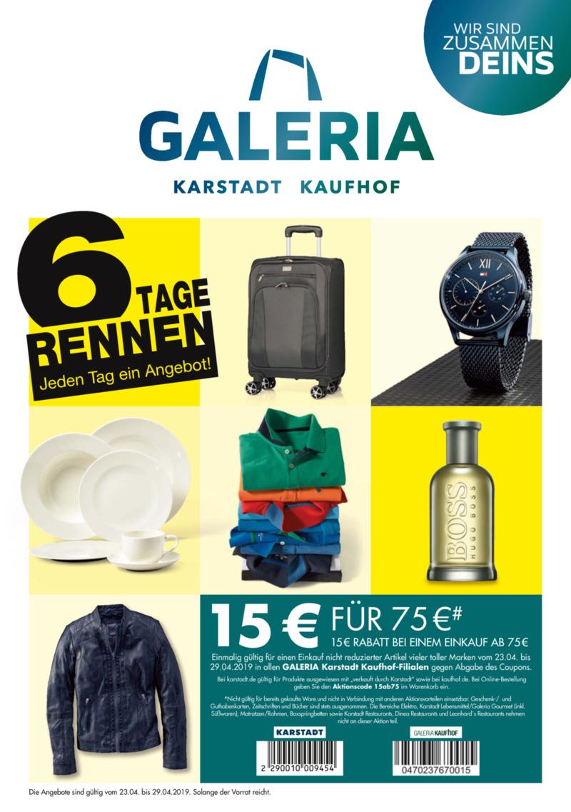 Galeria Kaufhof Prospekt vom 23.04.2019, Seite