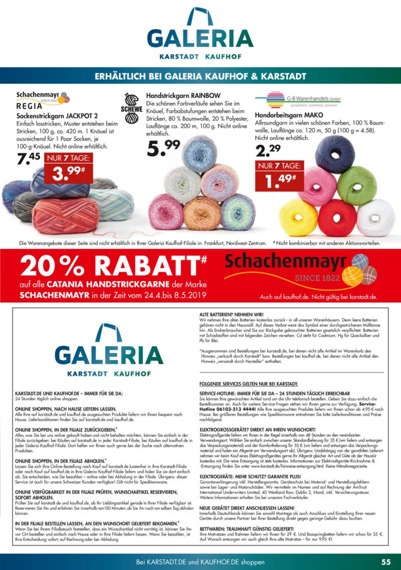 Galeria Kaufhof Prospekt vom 23.04.2019, Seite 54