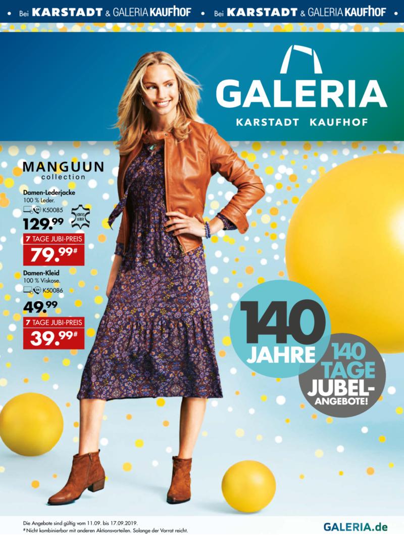 Galeria Kaufhof Prospekt vom 11.09.2019, Seite