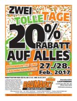 Globus Baumarkt Prospekt vom 27.02.2017