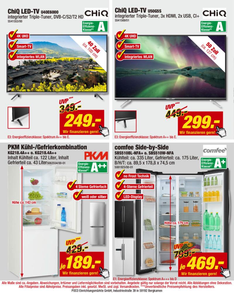 POCO Einrichtungsmarkt Prospekt vom 16.08.2019, Seite 1
