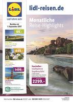 Lidl-Reisen Prospekt vom 01.09.2017