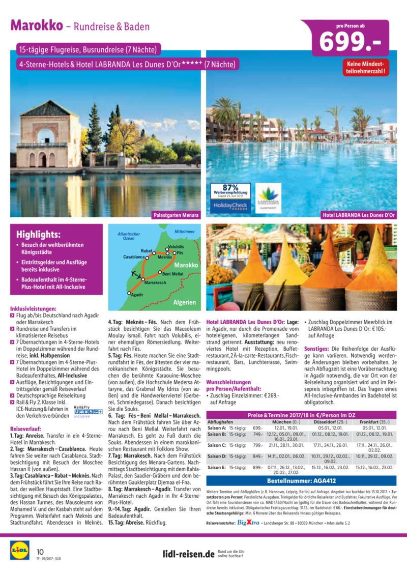 Lidl-Reisen Prospekt vom 15.09.2017, Seite 9