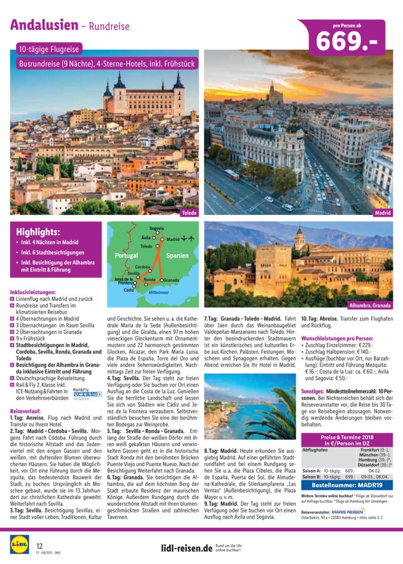 Lidl-Reisen Prospekt vom 15.09.2017, Seite 11