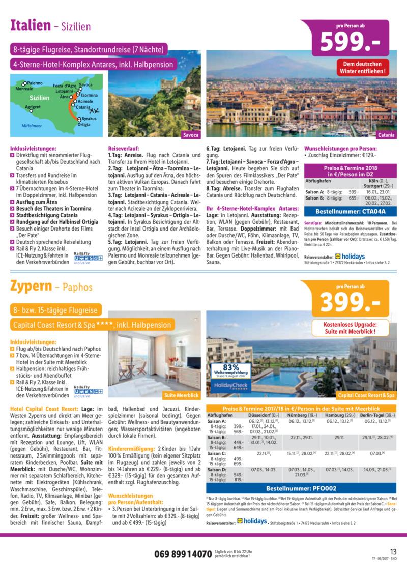 Lidl-Reisen Prospekt vom 15.09.2017, Seite 12