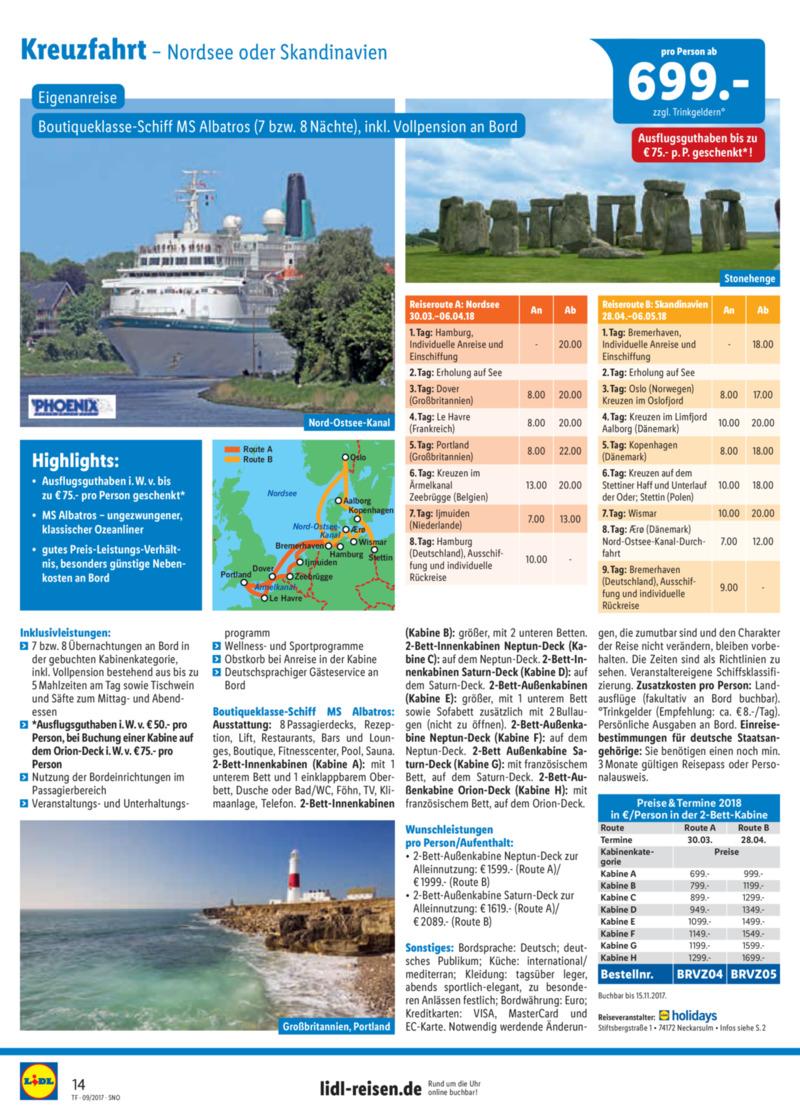 Lidl-Reisen Prospekt vom 15.09.2017, Seite 13