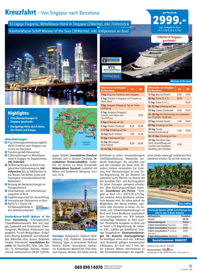 Lidl-Reisen Prospekt vom 15.09.2017, Seite 14