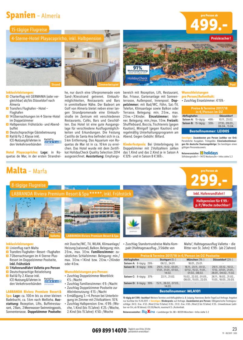 Lidl-Reisen Prospekt vom 15.09.2017, Seite 22