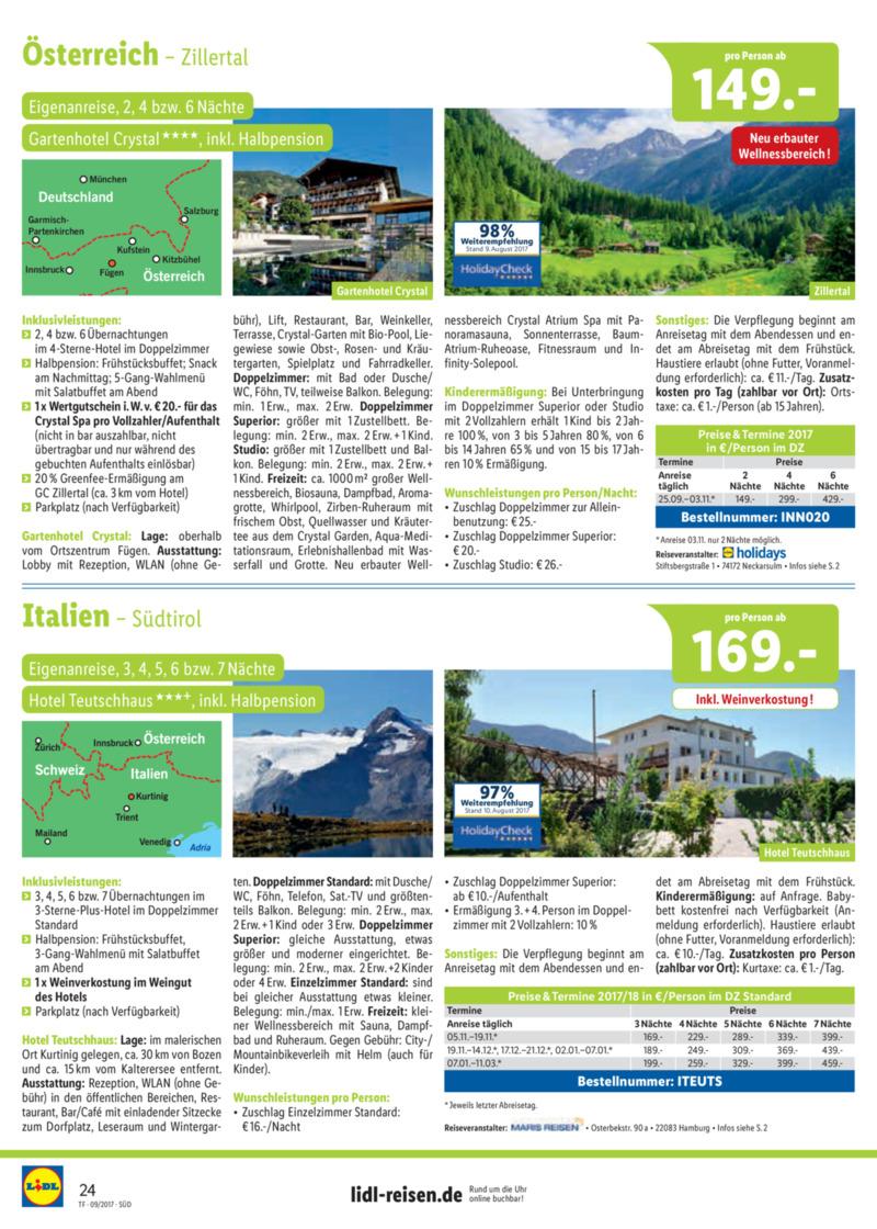 Lidl-Reisen Prospekt vom 15.09.2017, Seite 23