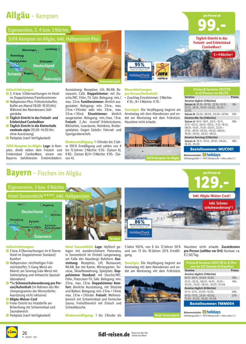 Lidl-Reisen Prospekt vom 15.09.2017, Seite 25