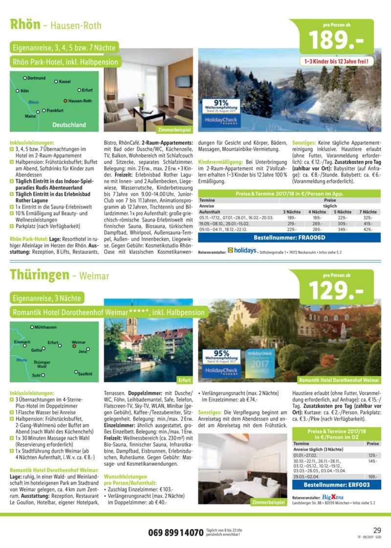 Lidl-Reisen Prospekt vom 15.09.2017, Seite 28