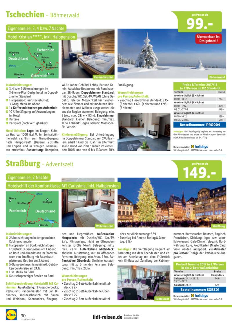 Lidl-Reisen Prospekt vom 15.09.2017, Seite 29