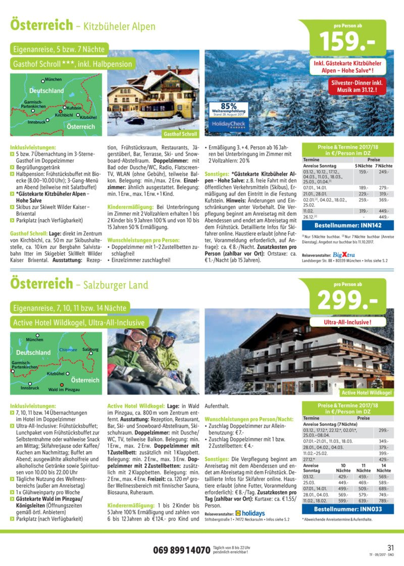 Lidl-Reisen Prospekt vom 15.09.2017, Seite 30