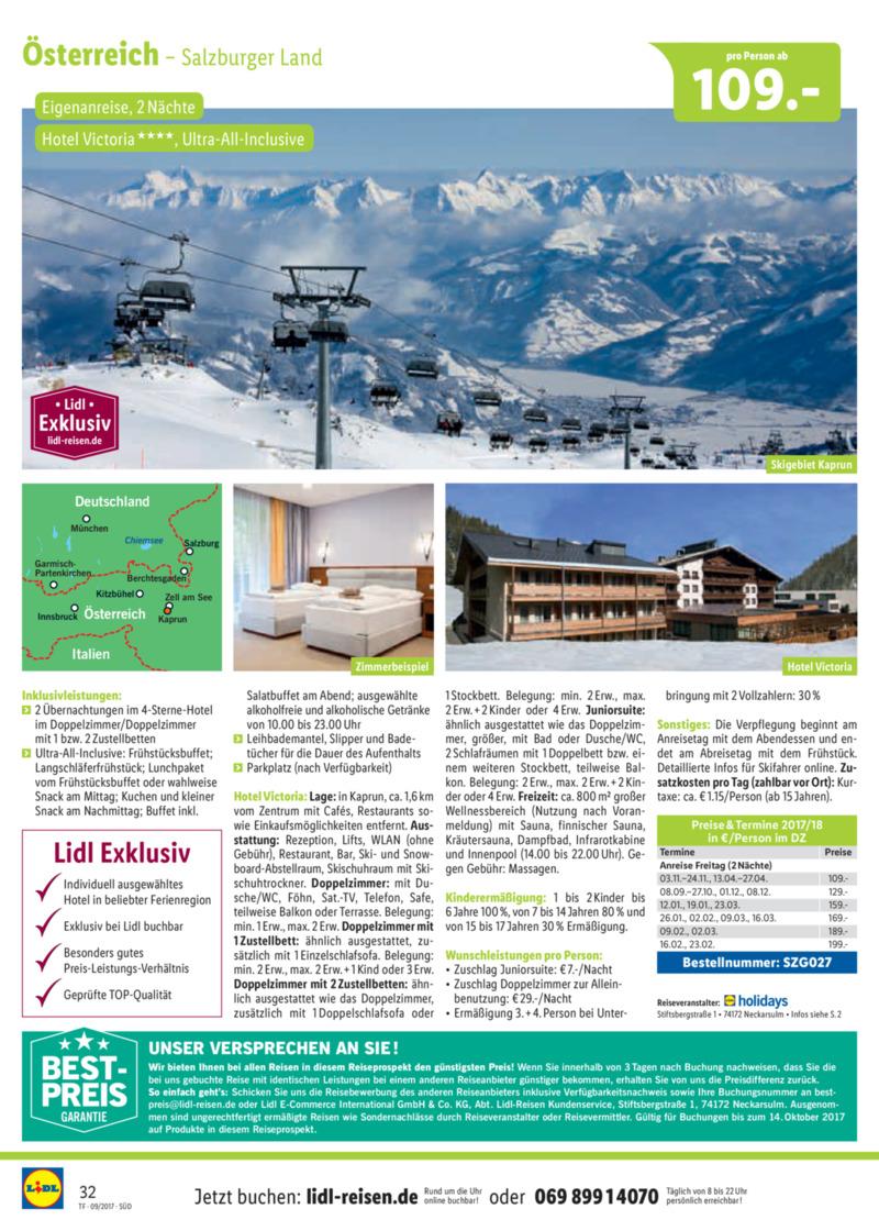 Lidl-Reisen Prospekt vom 15.09.2017, Seite 31