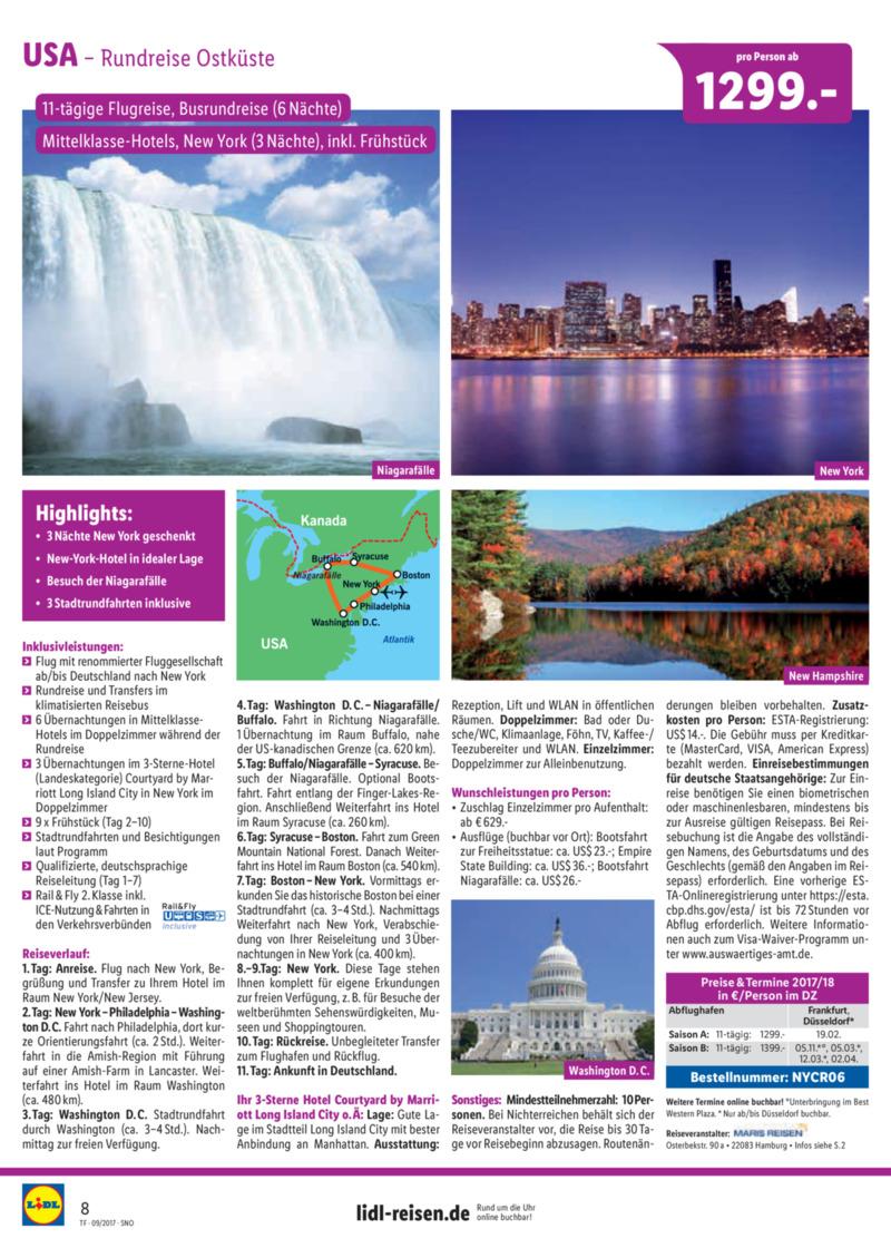 Lidl-Reisen Prospekt vom 15.09.2017, Seite 7