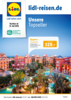 Lidl-Reisen Prospekt vom 16.07.2018