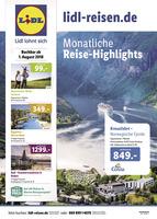 Lidl-Reisen Prospekt vom 01.08.2018
