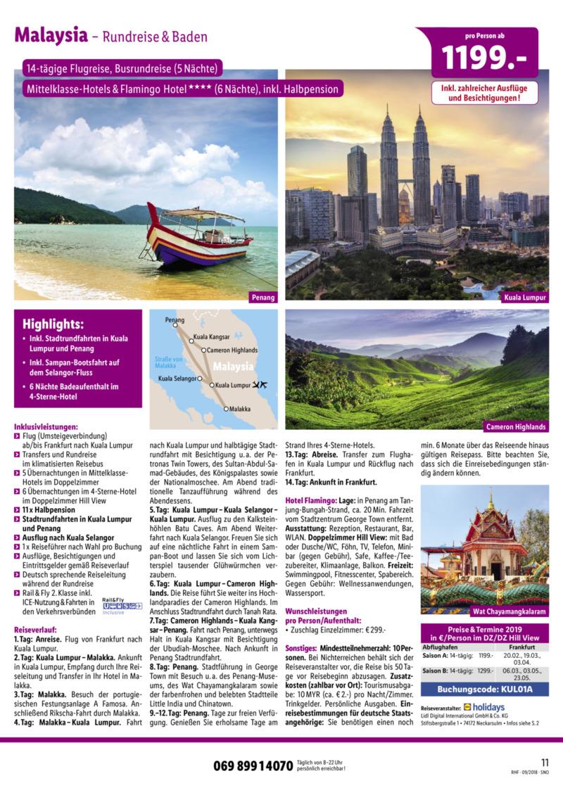 Lidl-Reisen Prospekt vom 01.09.2018, Seite 10