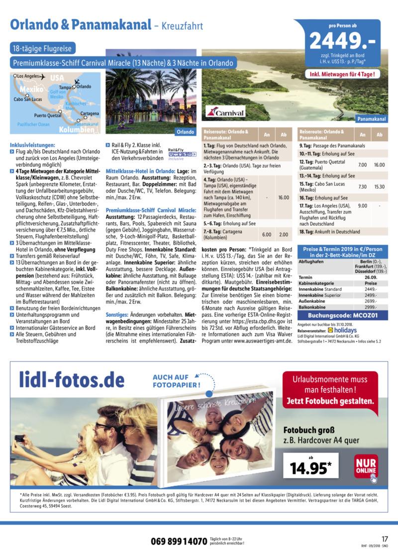 Lidl-Reisen Prospekt vom 01.09.2018, Seite 16