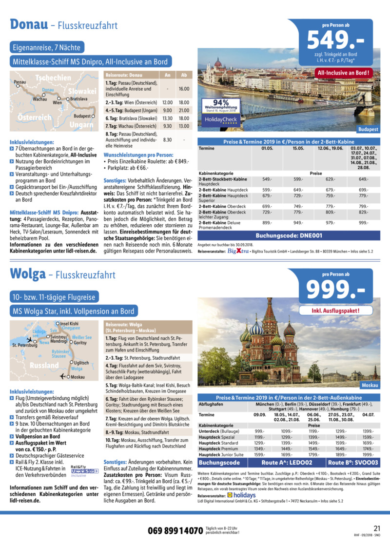 Lidl-Reisen Prospekt vom 01.09.2018, Seite 20