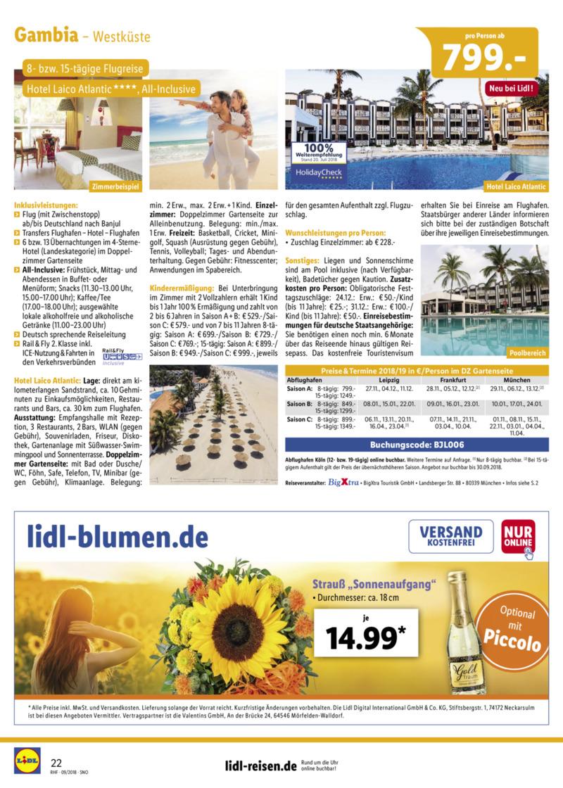 Lidl-Reisen Prospekt vom 01.09.2018, Seite 21